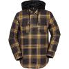 Volcom Men's Field Insulated Flannel Jacket - Large - Vintage Black