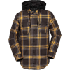 Volcom Men's Field Insulated Flannel Jacket - XL - Vintage Black