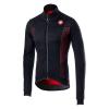 Castelli Men's Espresso V Jacket - Medium - Light Black / Red