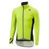 Castelli Men's Pro Fit Light Rain Jacket - Medium - Yellow Fluo