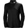 Helly Hansen Women's Rapid 1/2 Zip Fleece - Small - BLACK