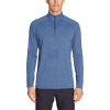 Eddie Bauer Motion Men's Resolution 1/4 Zip - Large - Heather Blue