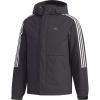 Adidas Men's 3-Stripe Down Jacket - XXL - Black / Black / Grey Five