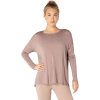 Beyond Yoga Women's Draw The Line Tie Back Pullover - Large - Dusty Mauve