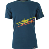 La Sportiva Men's Stripe 2.0 T-Shirt - Large - Ocean / Citronelle