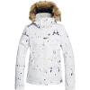 Roxy Women's Jet Ski Jacket - Large - Bright White/On Piste
