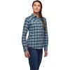 Black Diamond Women's Spotter LS Flannel Shirt - Medium - Arctic Blue / Ash Plaid
