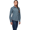 Black Diamond Women's Spotter LS Flannel Shirt - XL - Arctic Blue / Ash Plaid