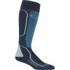 Icebreaker Men's Ski+ Medium Over the Calf Sock - Small - Fathom Heather / Granite Blue / Blizzard Heather