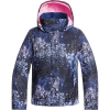 Roxy Girls' Jetty Jacket - 10/M - Medieval Blue Sparkles