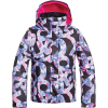 Roxy Girls' Jetty Jacket - 10/M - True Black/Famous Alphabet