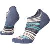 Smartwool Women's PhD Run Light Elite Striped Micro Sock - Small - Dark Blue Steel