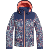 Roxy Girls' Delski Jacket - 10/M - Medieval Blue/Amparo Flowers