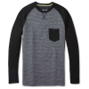 Smartwool Men's Merino 250 Pocket Crew - XL - Medium Gray Tick Stitch
