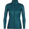 Icebreaker Women's Helix LS Zip - Small - Kingfisher / Jet Heather