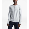 The North Face Men's TNF Terry LS Henley - Small - TNF Light Grey Heather
