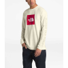 The North Face Men's Recycled Materials LS Tee - Small - Vintage White Heather / TNF Red