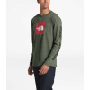 The North Face Men's Recycled Materials LS Tee - XL - New Taupe Green Heather / TNF Red