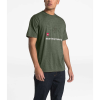 The North Face Men's Recycled Materials SS Tee - XXL - New Taupe Green Heather / TNF Red
