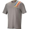 Alpine Stars Men's Alps 4.0 SS Jersey - Medium - Melange Gray / Blue / Red