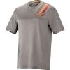 Alpine Stars Men's Alps 4.0 SS Jersey - Medium - Melange Gray / Red / Ochre