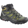 Salomon Men's X Ultra 3 Mid GTX Shoe - 10.5 Wide - Castor Gray / Black / Green Sulphur