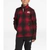 The North Face Boys' Gordon Lyons Full Zip Jacket - Medium - TNF Red Ombre Plaid Small Print