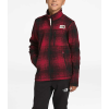 The North Face Boys' Gordon Lyons Full Zip Jacket - Large - TNF Red Ombre Plaid Small Print