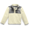The North Face Toddlers' Glacier 1/4 Snap Top - 3T - Vintage White/TNF Medium Grey Heather