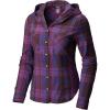 Mountain Hardwear Women's Acadia Stretch Hooded LS Shirt - Small - Dark Tannin