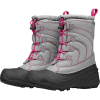 The North Face Youth Alpenglow IV Boot - 5 - Frost Grey / Mr. Pink
