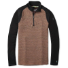 Smartwool Men's Merino 250 Baselayer Pattern 1/4 Zip Top - Large - Bourbon Tick Stitch
