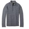 Smartwool Men's Merino 250 Baselayer Pattern 1/4 Zip Top - Large - Medium Gray Tick Stitch