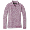 Smartwool Women's Merino 250 Baselayer Pattern 1/4 Zip Top - Medium - Sangria Snow Swirl