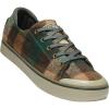 Keen Women's Elsa III Sneaker Shoe - 8.5 - Brown Plaid / Climbing Ivy