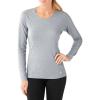 Smartwool Women's Merino 150 Baselayer LS Top - Large - Dark Pebble Gray Pattern
