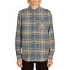 Volcom Men's Caden Plaid LS Shirt - XL - Indigo