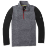 Smartwool Kids' Merino 250 Baselayer Pattern Zip T - Medium - Medium Gray Tick Stitch