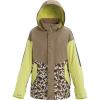 Burton Women's Loyle Parka - Medium - Timber Wolf / Sunny Lime / Whit Floral