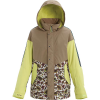 Burton Women's Loyle Parka - Large - Timber Wolf / Sunny Lime / Whit Floral