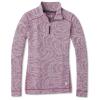 Smartwool Women's Merino 250 Baselayer Pattern 1/4 Zip Top - XL - Sangria Snow Swirl