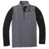 Smartwool Kids' Merino 250 Baselayer Pattern Zip T - XL - Medium Gray Tick Stitch