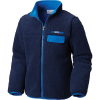 Columbia Youth Mountain Side Heavyweight Full Zip Fleece Top - Medium - Collegiate Navy / Super Blue