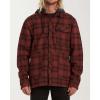 Billabong Men's Furnace Bonded Flannel Long Sleeve - XL - Red