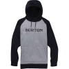 Burton Men's Crown Bonded Pullover - Medium - Grey Heather / True Black