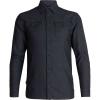 Icebreaker Men's Lodge LS Flannel Shirt - XXL - Black Heather