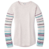 Smartwool Women's Shadow Pine Crew Sweater - Small - Pink Nectar Heather