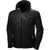 Helly Hansen Men's Crew Hooded Midlayer Jacket - 3XL - Black