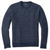 Smartwool Men's Ripple Ridge Tick Stitch Crew Sweater - XL - Deep Navy Heather