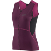 Louis Garneau Women's Tri Comp Sleeveless Top - Small - Black / Pink / Purple